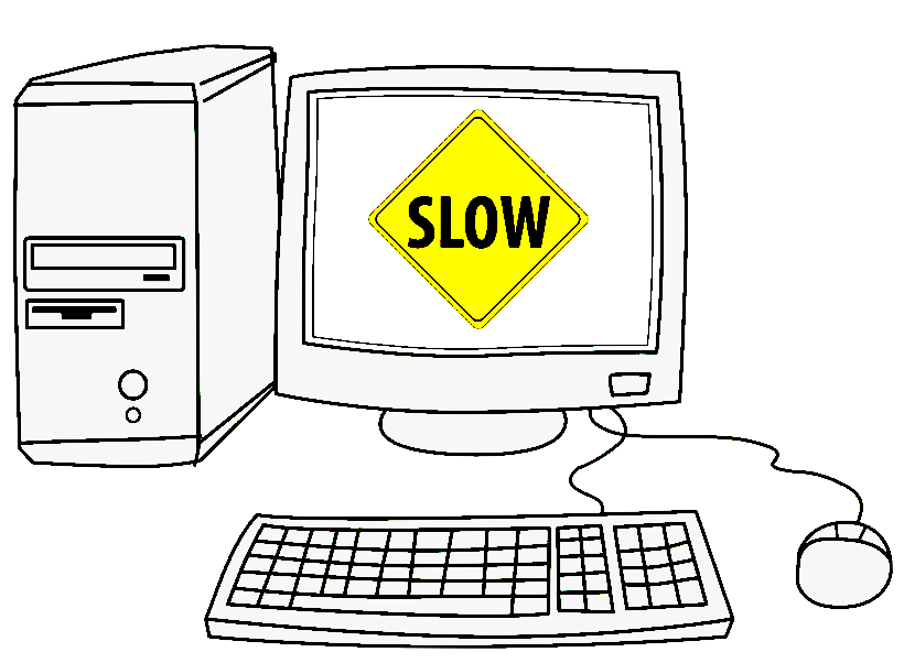 desktop computer cartoon