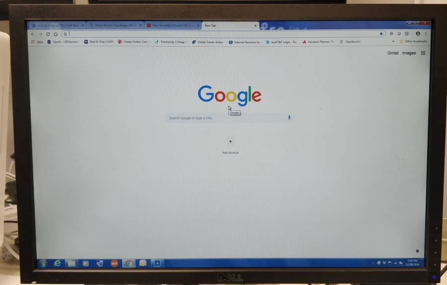 desktop computer screen